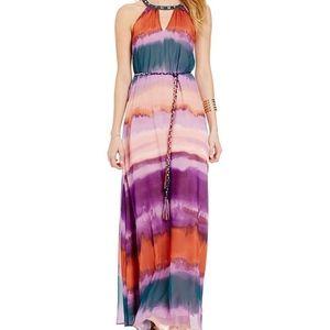 Jessica Simpson  plus size Jewel Neck Ombre Dress